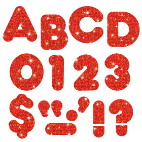 Red Sparkle 3-Inch Casual Uppercase (EN/SP) Ready Letters®