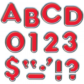"Red 4"" Colorful Chrome UC Ready Letters"