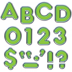 Green 4-Inch Colorful Chrome Uppercase Ready Letters®