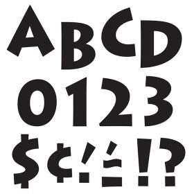 "Black 4"" Venture Uppercase Ready Letters"