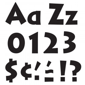 Black 4-Inch Venture Uppercase/Lowercase Combo Pack (EN/SP) Ready Letters