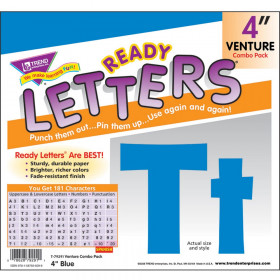 Ready Letters Blue 4 Venture Uppercase & Lowercase Combo