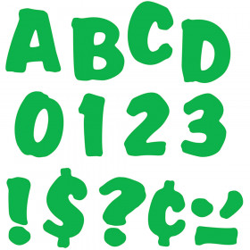 "Green 4"" Splash Uppercase Ready Letters"