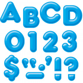"Blue 2"" 3-D Uppercase Ready Letters"