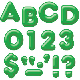Green 2-Inch 3-D Uppercase Ready Letters®