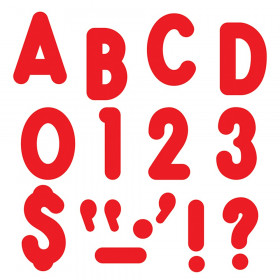 """Red 7"""" Billboard Uppercase Ready Letters"""