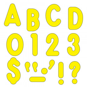 "Yellow 7"" Billboard Uppercase Ready Letters"