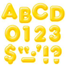 Yellow 4-Inch 3-D Uppercase Ready Letters®
