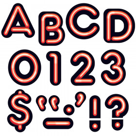 Bright Red 4-Inch Neon Uppercase Ready Letters®