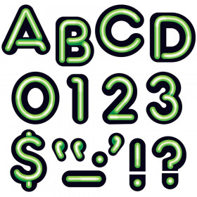 "Bright Green 4"" Neon Uppercase Ready Letters"