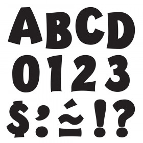 Black 2-Inch Playful Uppercase Ready Letters®