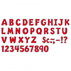 "Red 2"" Playful Uppercase Ready Letters"