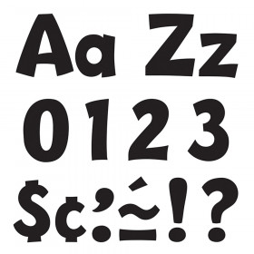 Black 4-Inch Playful Uppercase/Lowercase Combo Pack (EN/SP) Ready Letters