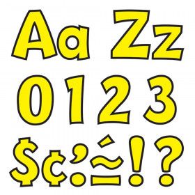 Yellow 4-Inch Playful Uppercase/Lowercase Combo Pack (EN/SP) Ready Letters®