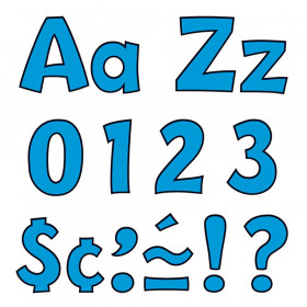 Blue 4-Inch Playful Uppercase/Lowercase Combo Pack (EN/SP) Ready Letters