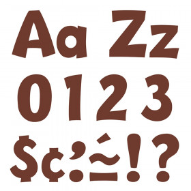 Chocolate 4-Inch Playful Uppercase/Lowercase Combo Pack (EN/SP) Ready Letters®
