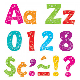 Bubbles 4-Inch Playful Uppercase/Lowercase Combo Pack (EN/SP) Ready Letters