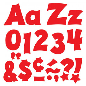 Red 4-Inch Friendly Uppercase/Lowercase Combo Pack (EN/SP) Ready Letters