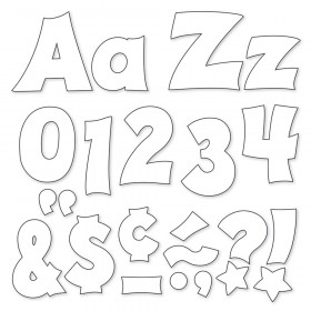 White 4-Inch Friendly Uppercase/Lowercase Combo Pack (EN/SP) Ready Letters