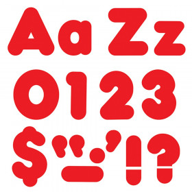Red 4-Inch Casual Uppercase/Lowercase Combo Pack Ready Letters