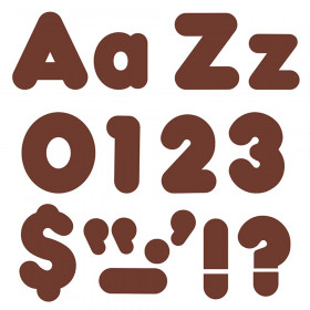Chocolate 4-Inch Casual Uppercase/Lowercase Combo Pack Ready Letters®