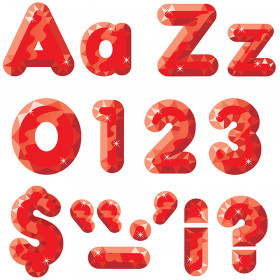 Red Gems 4-Inch Casual Uppercase/Lowercase Combo Pack Ready Letters®