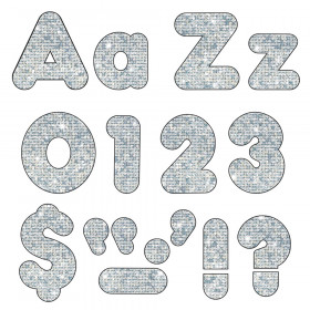 Silver Sparkle 4-Inch Casual Uppercase/Lowercase Combo Pack Ready Letters®