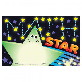 Math Star Recognition Awards, 30 ct