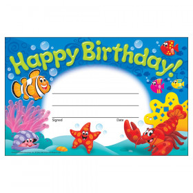 Happy Birthday! Sea Buddies Recognition Awards, 30 ct