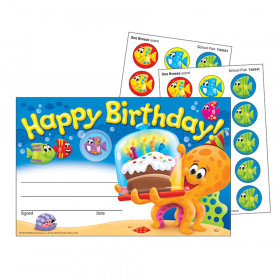 Birthday Sea Buddies Scratch 'n Sniff Awards, 24 ct