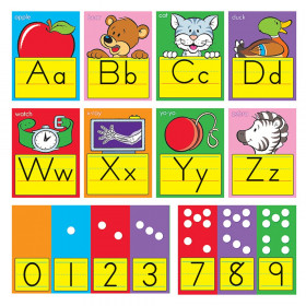 ABC Fun Alphabet Zaner-Bloser Manuscript Bulletin Board Set