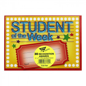 Awards Student Of The Week 30/Pk 5X7