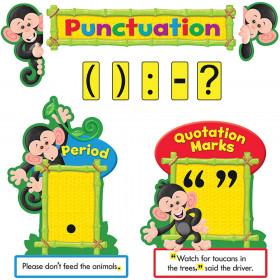 Monkey Mischief® Punctuation Bulletin Board Set