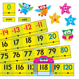 Owl-Stars!® Number Line -20 to 120 Bulletin Board Set