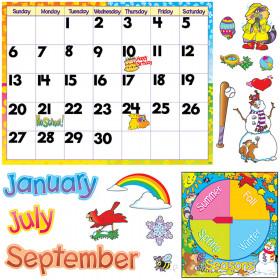 Monthly Calendar ? Cling Wipe-Off? Bulletin Board Set