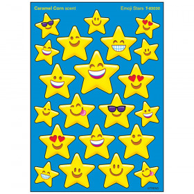 Emoji Stars/Caramel Corn Stinky Stickers® – Mixed Shapes