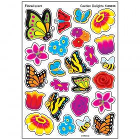 Garden Delights Stinky Stickers, Mixed Shapes, 96 ct