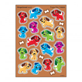 Puppy Pals/Gingerbread Stinky Stickers® – Mixed Shapes