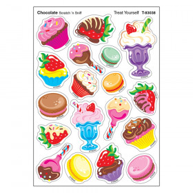 Treat Yourself/Chocolate Mixed Shapes Stinky Stickers, 72 Count
