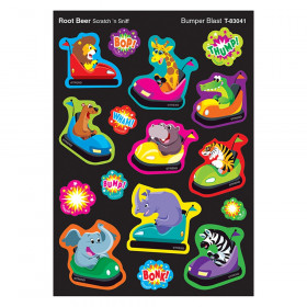 Bumper Blast/Root Beer Mixed Shapes Stinky Stickers, 64 Count