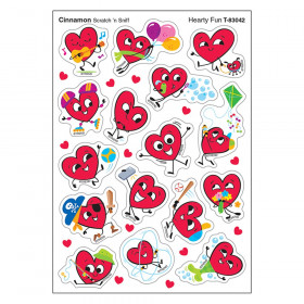 Hearty Fun/Cinnamon Mixed Shapes Stinky Stickers, 64 Count