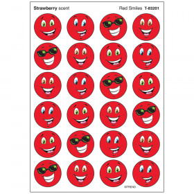 Red Smiles/Strawberry Stinky Stickers® – Small