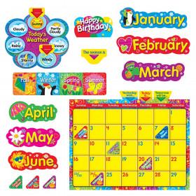 Wipe-Off Stars 'n Swirls Calendar (Cling) Bulletin Board Set
