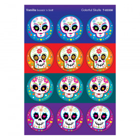 Colorful Skulls/Vanilla Stinky Stickers, 48 Count