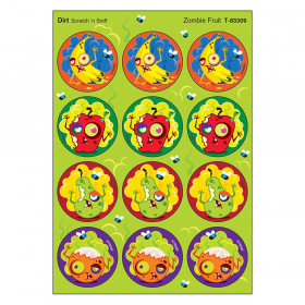 Zombie Fruit/Dirt Stinky Stickers, 48 Count
