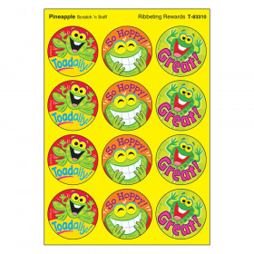 Ribbeting Rewards/Pineapple Stinky Stickers, 48 Count