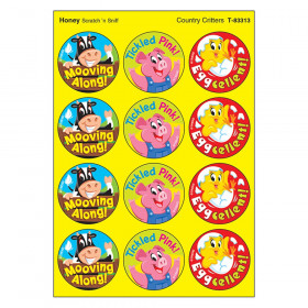 Country Critters/Honey Stinky Stickers, 48 Count