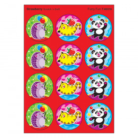 Furry Fun/Strawberry Stinky Stickers, 48 Count