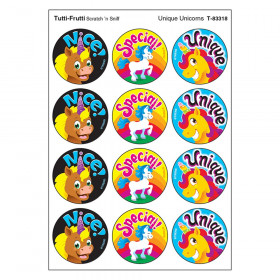 Unique Unicorns/Tutti Frutti Stinky Stickers, 48 Count