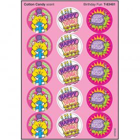 Birthday Fun/Cotton Candy Stinky Stickers?-Large Round